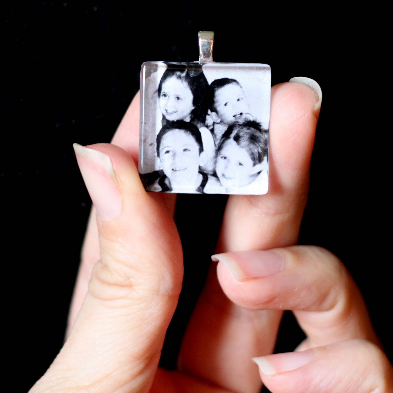 How to make your own glass tile pendant photo necklace tutorial ideas for glass tile pendants aloadofball Images