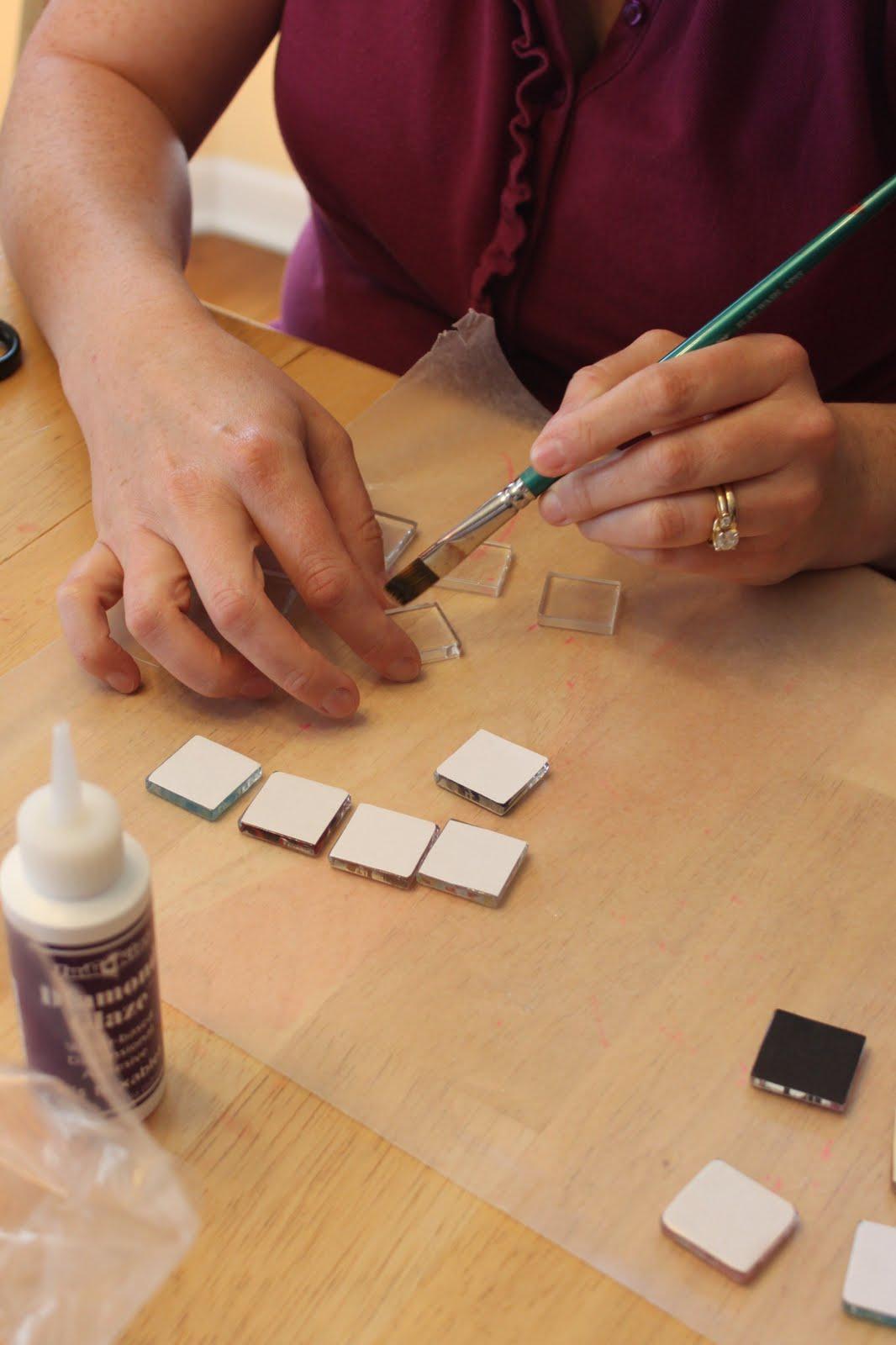 Glass tile pendants sugar bee crafts tutorial aloadofball Image collections