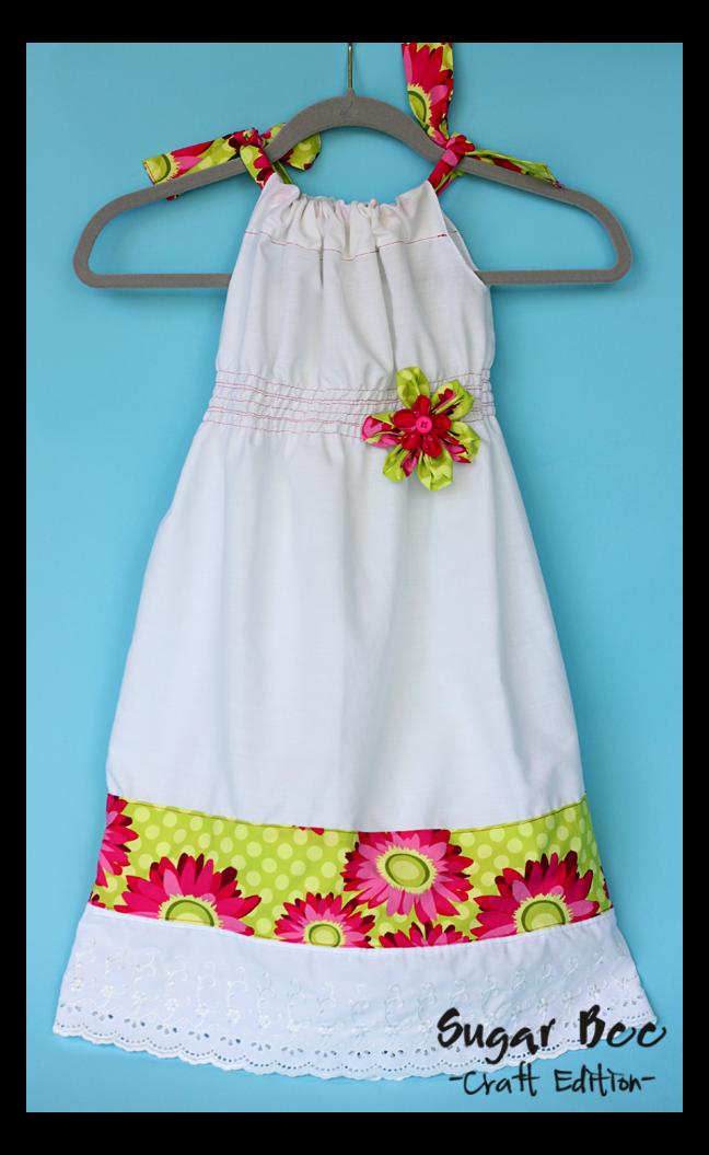 Shirred Pillowcase Dress Tutorial Sugar Bee Crafts