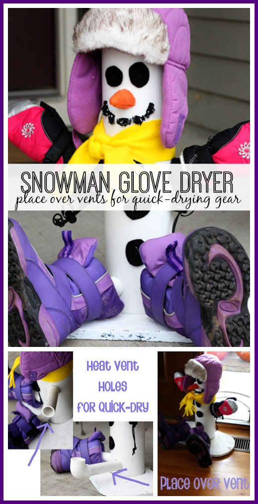 snowman glove dryer over vents