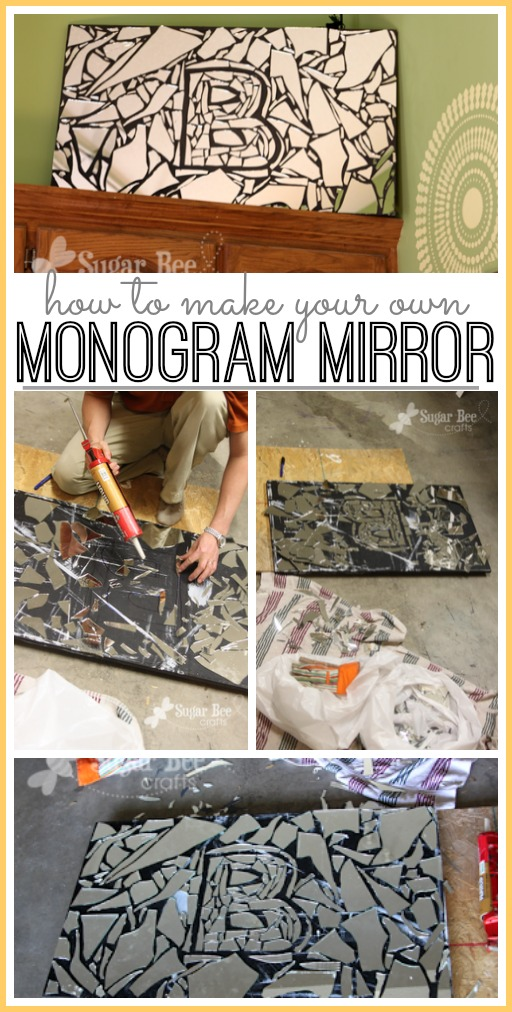 how to make your own diy monogram mirror
