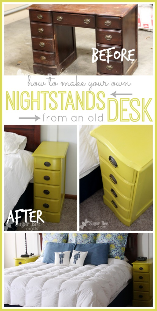make nightstands from a desk
