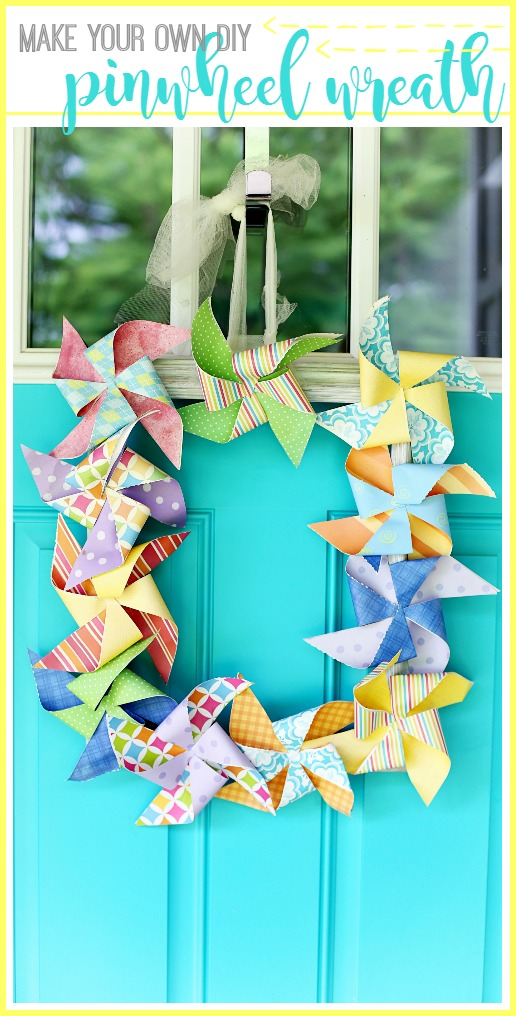 How To Make Your Own Diy Pinwheel Wreath ...