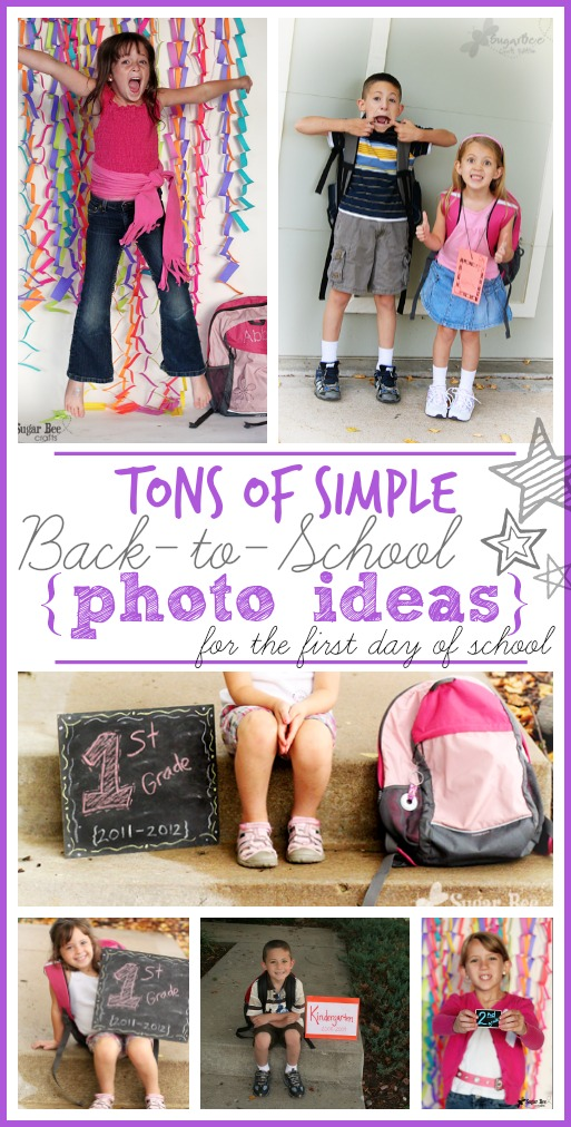 back to school picture photo ideas