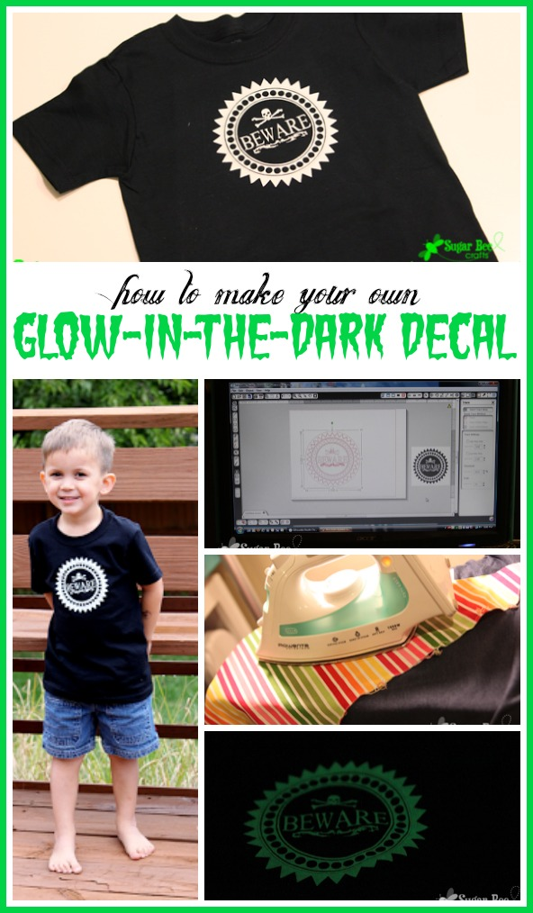 make your own glow in the dark decal