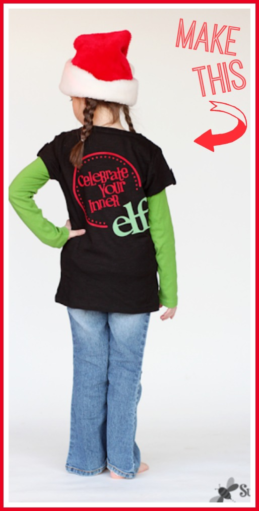 diy elf tee holiday tee