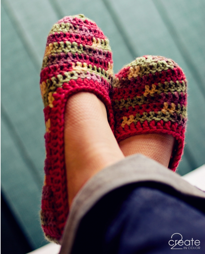 Crocheted Slippers Sugar Bee Crafts