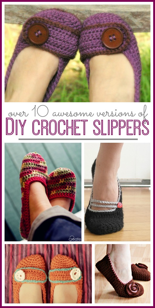 diy crochet slippers pattern