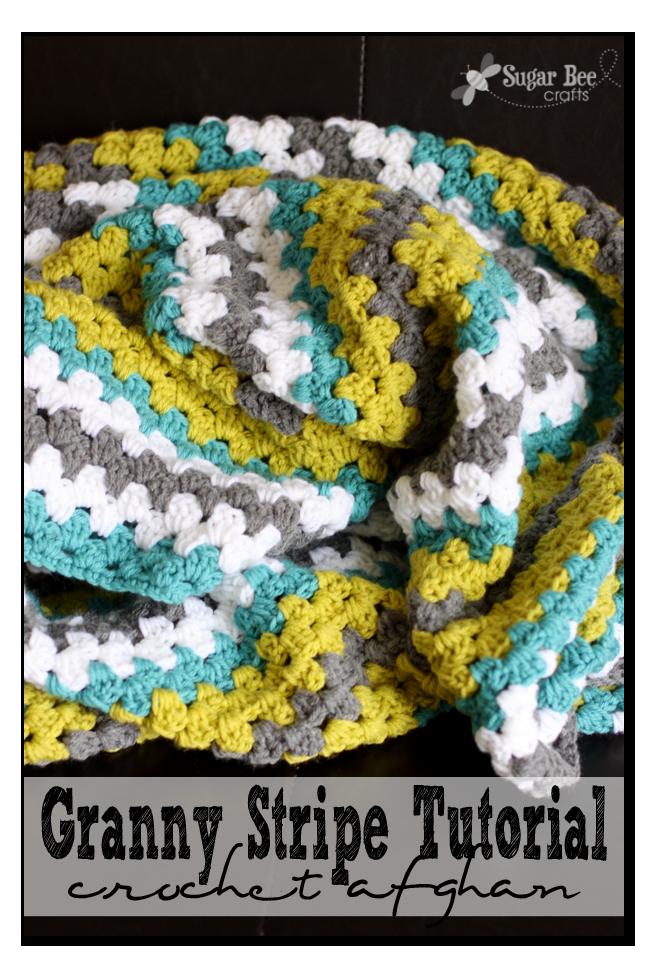 granny stripe tutorial how to blanket