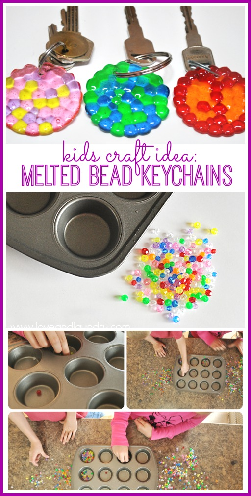 How to Make Melted Bead Keychains | Kids DIY Craft Ideas