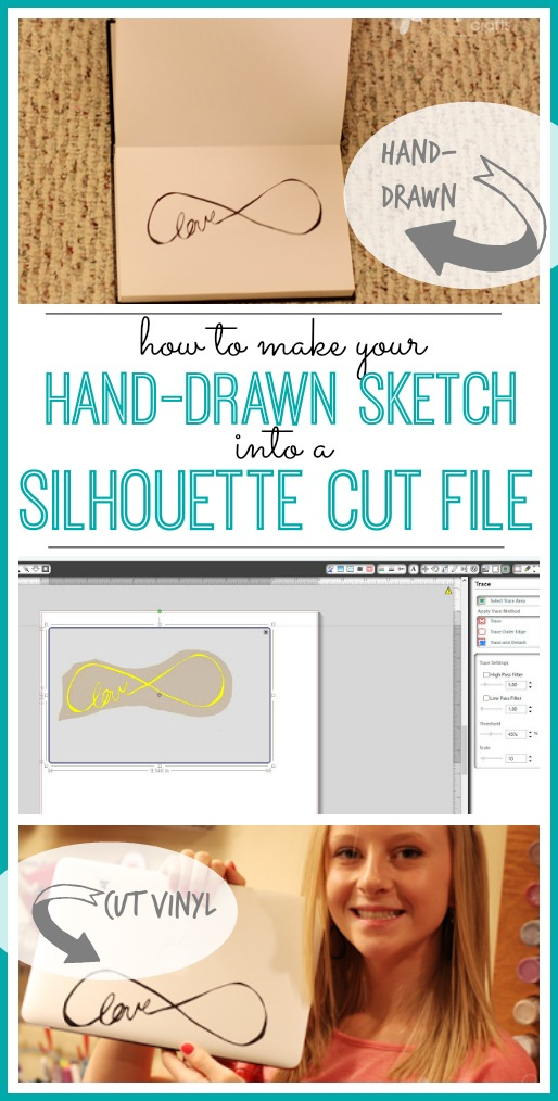 how to make your sketch into a silhouette file