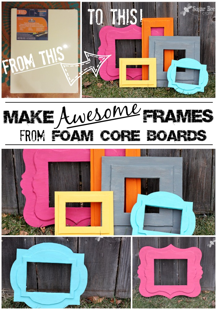 Diy Foam Frame How To Make Styrofoam Selfie Photo Boards