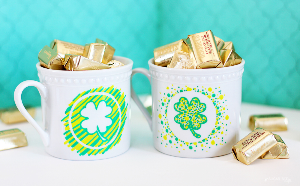 shamrock mugs diy tutorial