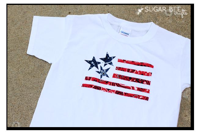 bandana applique Patriotic Shirt