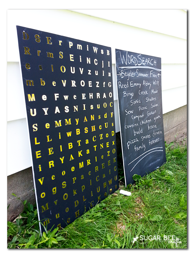 outdoor wordsearch game