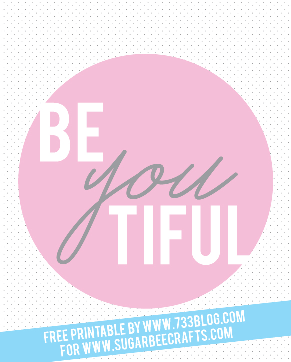 beYOUtiful Free Printable