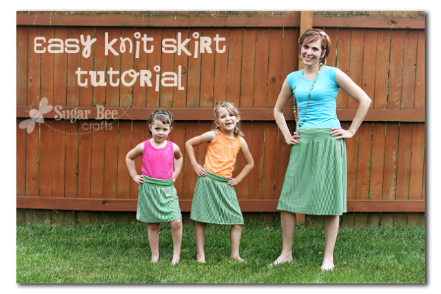 easy knit skirt tutorial