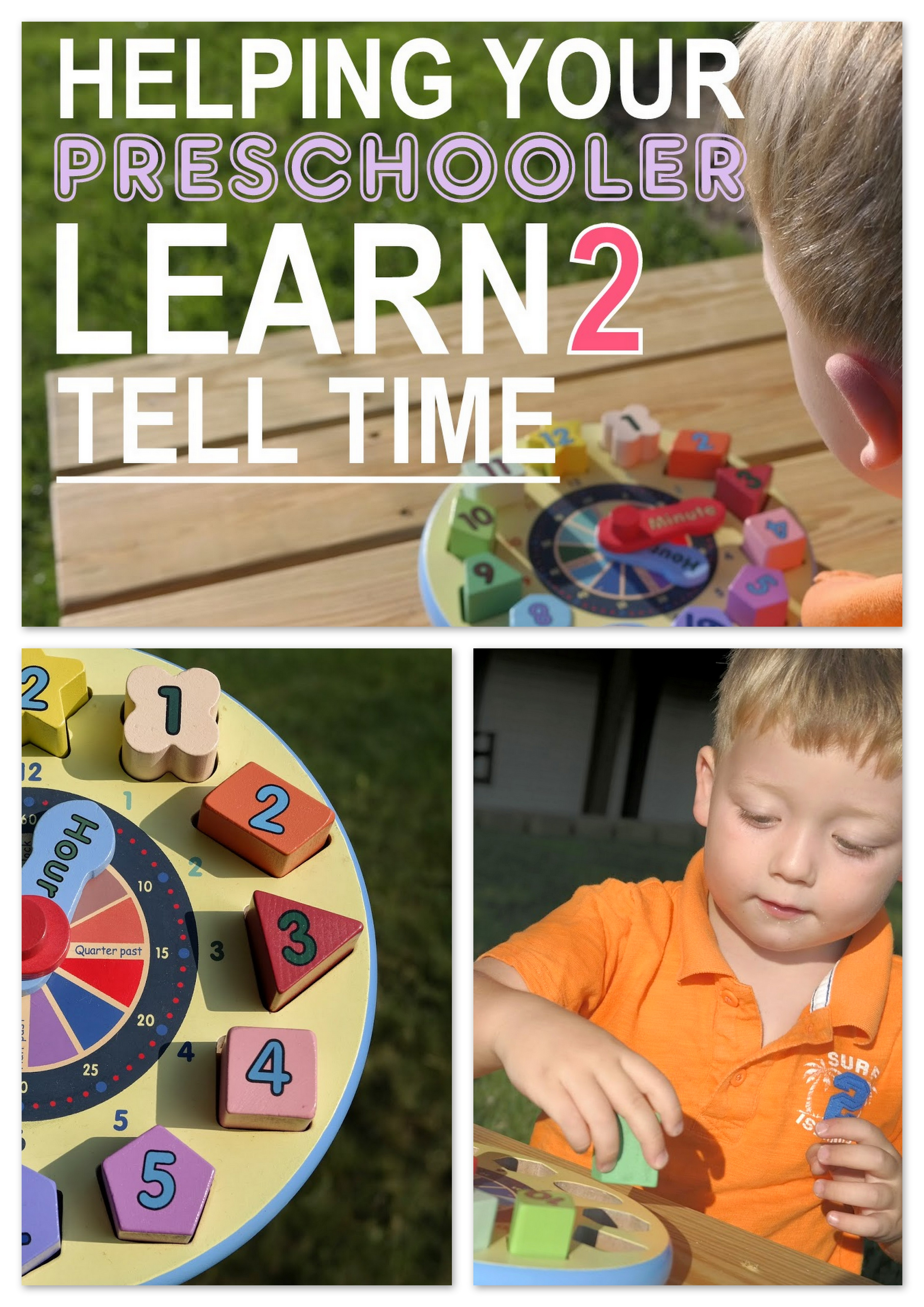 Helping your Preschooler Tell Time