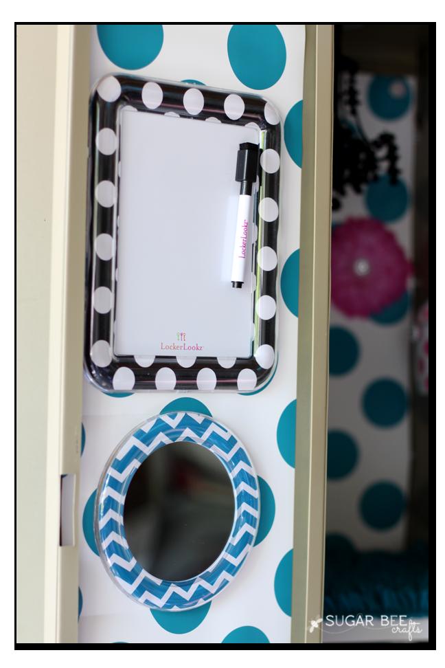 locker mirror white board