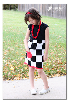 tutorial for a checkers skirt