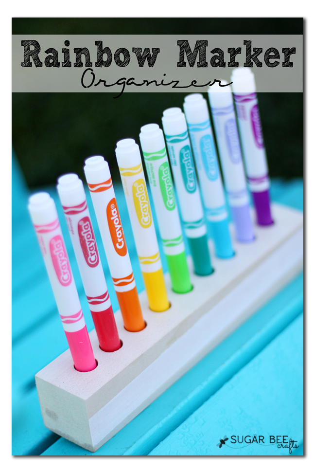 diy marker holder organizer