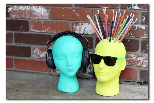 foam head organize school supplies
