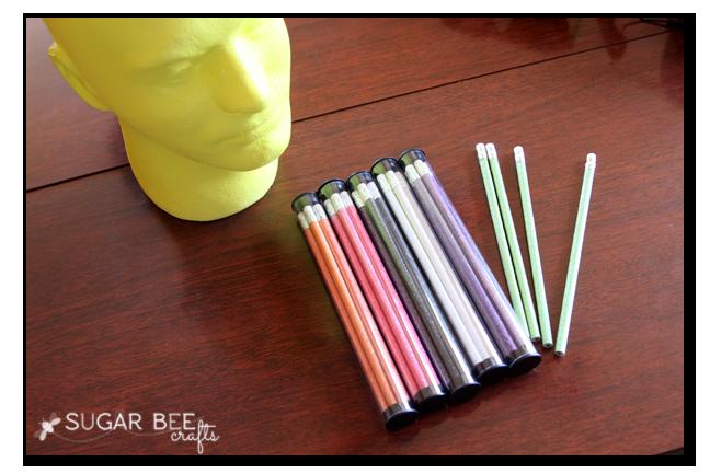 glitter pencils