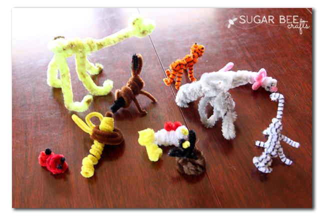 how to make pipe cleaner animals