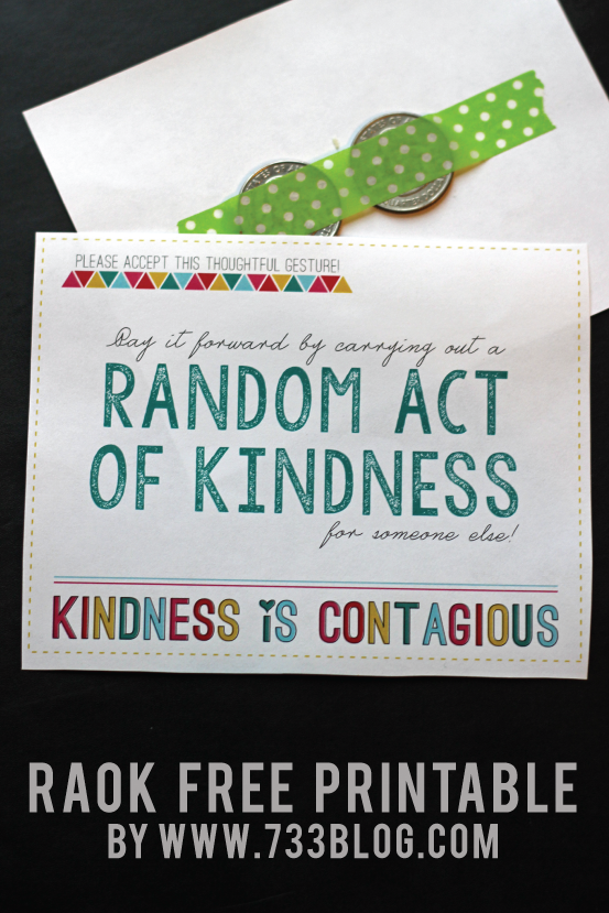 Random Acts of Kindness Free Printable