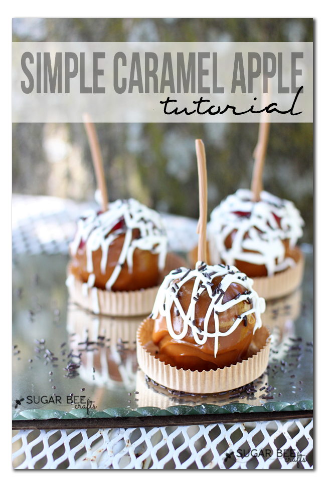 simple caramel apple tutorial