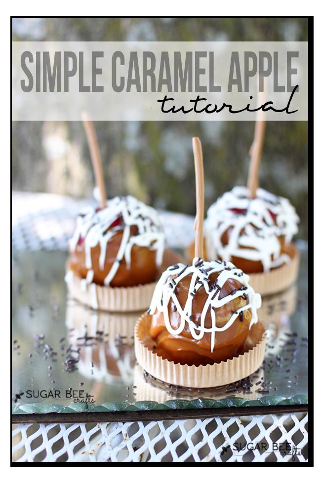 simple caramel apple tutorial