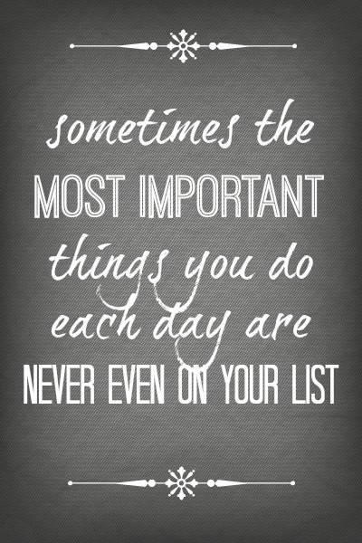 busy - most important things