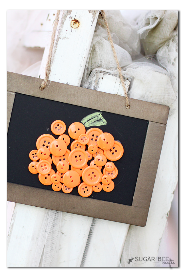 cute button pumpkin decor