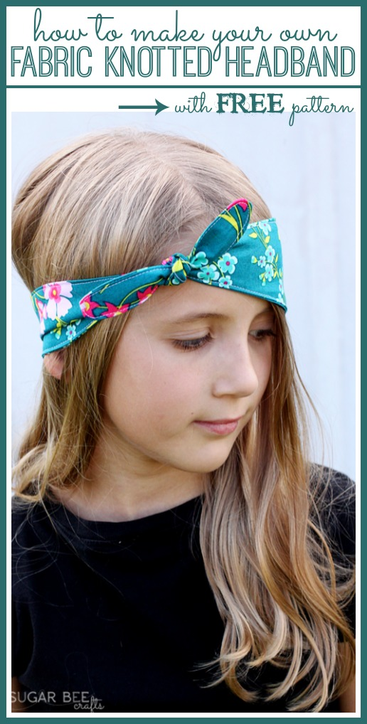 free headband pattern knotted