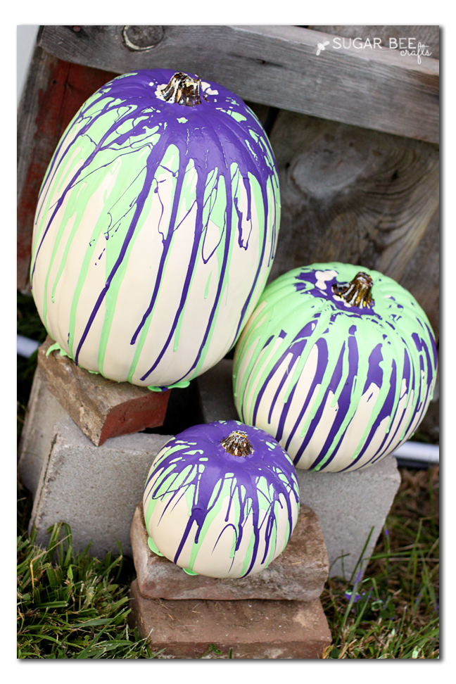 halloween decor drip pumpkins