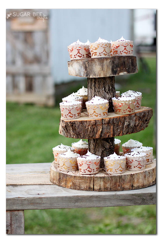 how to make a rustic cupcake stand