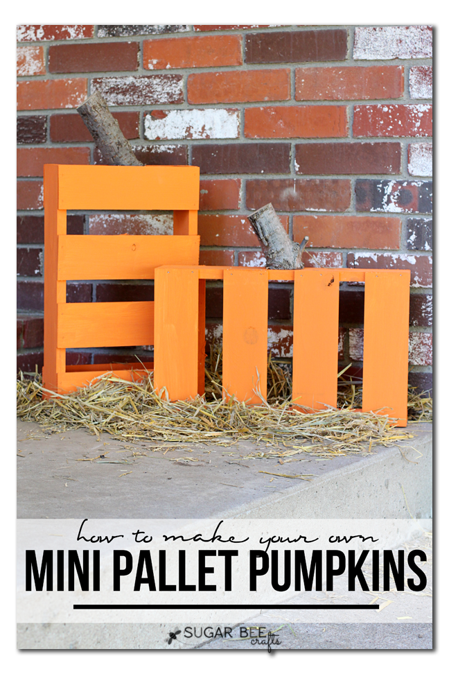 how to make your own mini pallet pumpkins