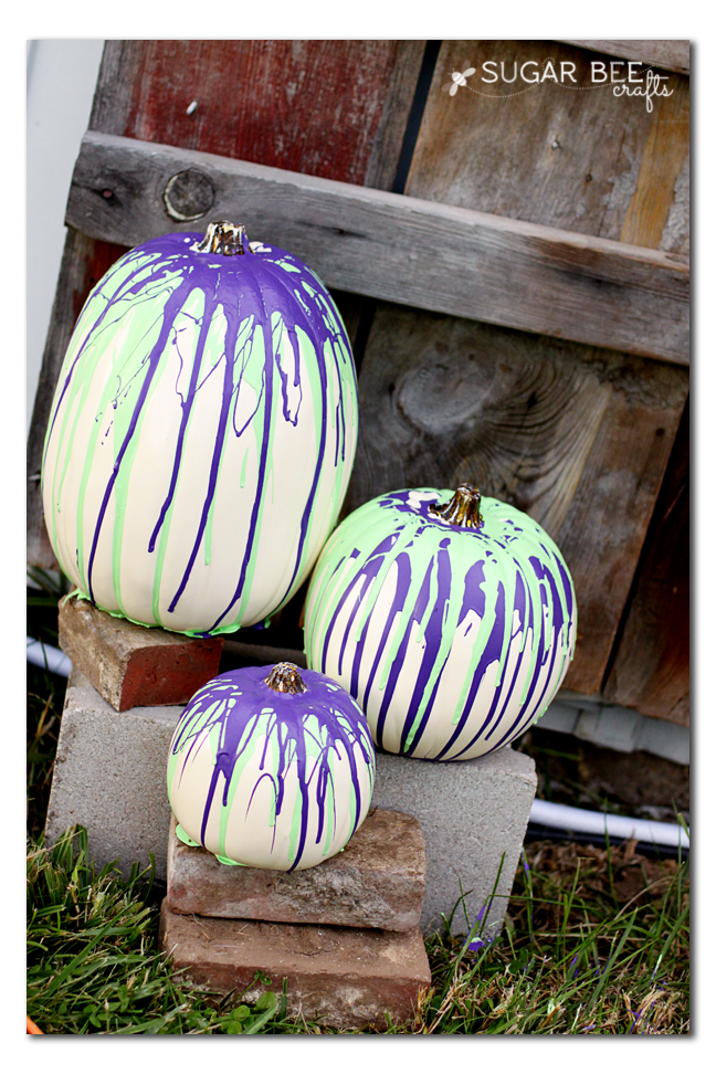paint drip pumpkins