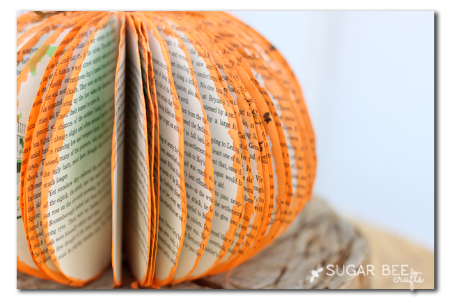 pumpkin from book pages