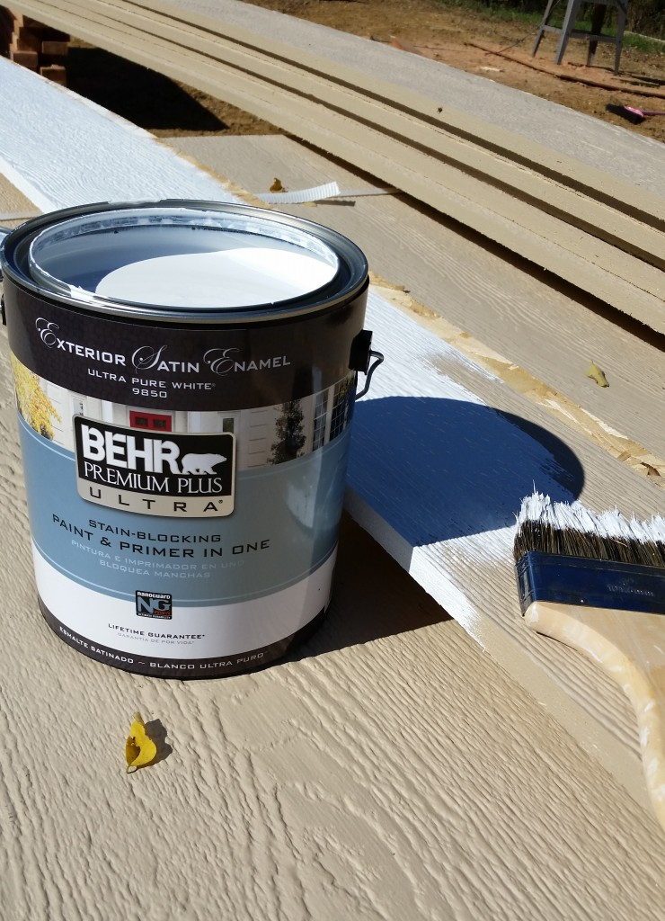 Everyday I M Paintin Trim Paint With Behr Sugar Bee Crafts Premium Plus Ultra 1 Gal Pure White Satin Enamel Exterior