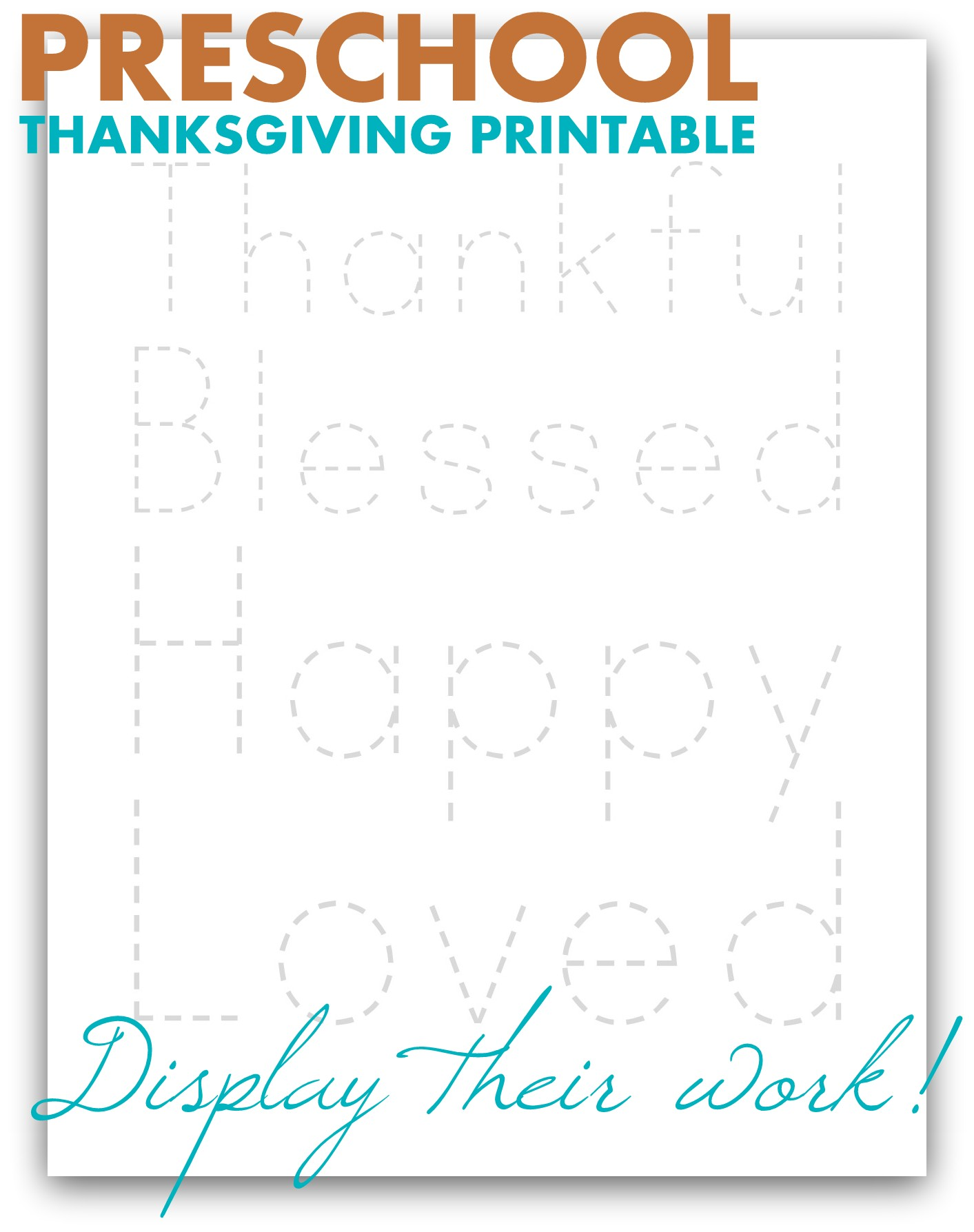 Preschool Thankfulness Image