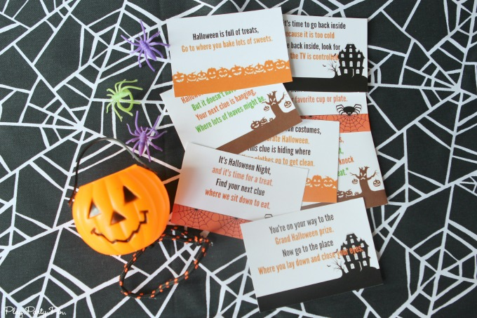 Printable Halloween scavenger hunt