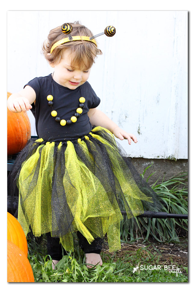 bee costume easy - no sew!