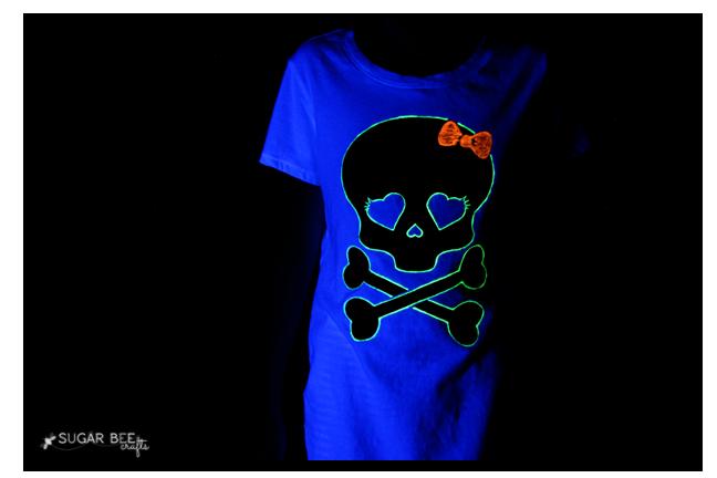 glow girls halloween shirt