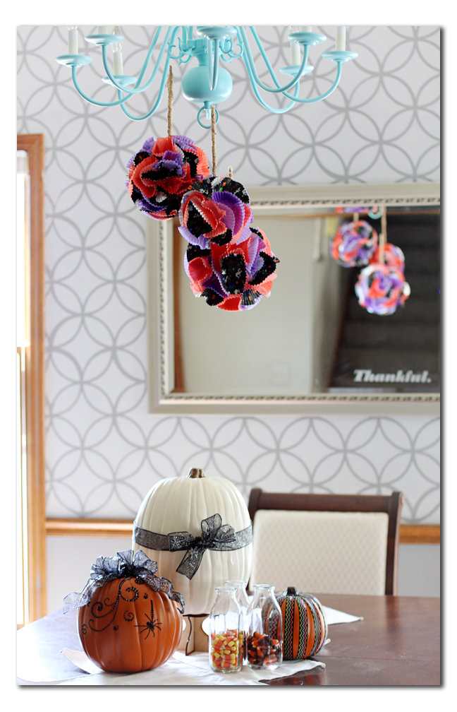 hanging cupcake liner ball