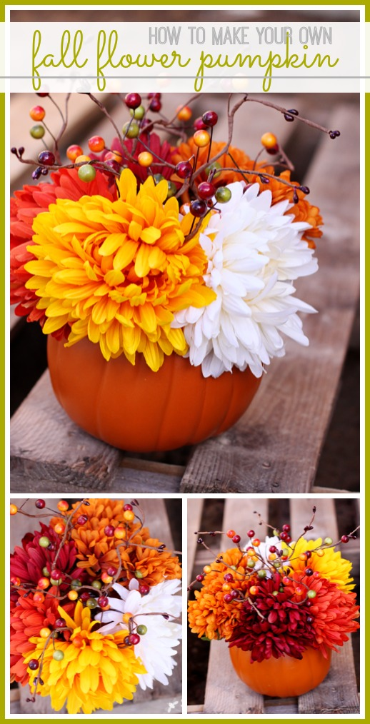 how to make your own fall flower pumpkin