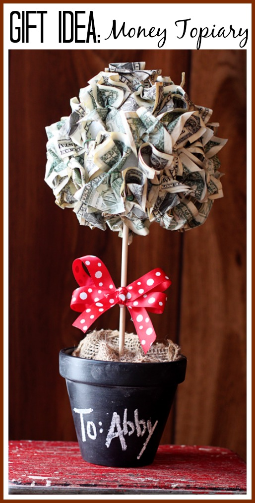 money topiary tree gift