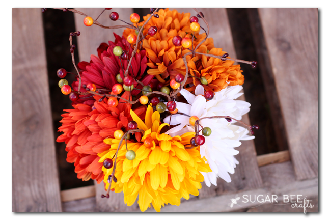pumpkin flower arrangement top
