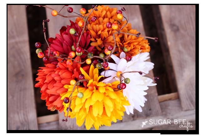 pumpkin flower arrangement top