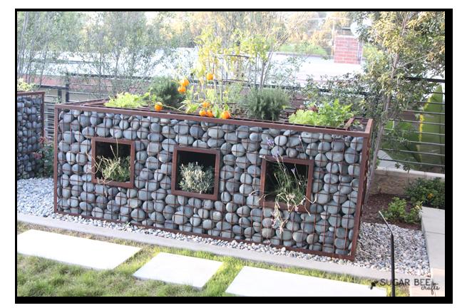 rock cage garden